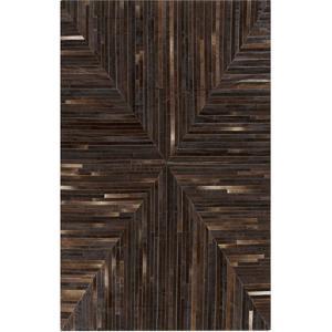 Appalachian Area Rug - Chocolate/Black 5' x 8'