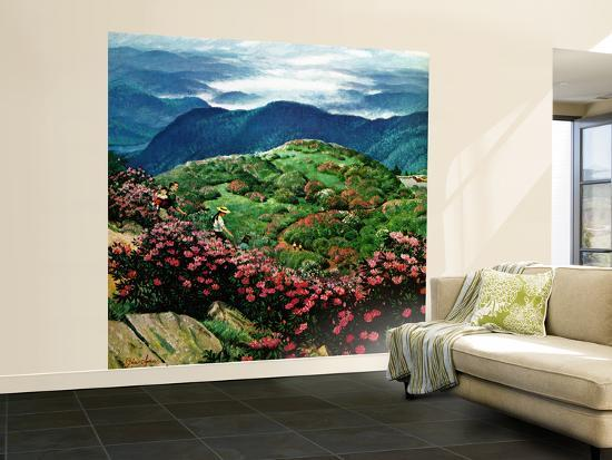 """""""Appalachian Rhododendrons,"""" May 27, 1961-John Clymer-Wall Mural – Large"""