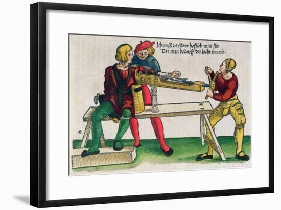 Apparatus For Healing Arm Fractures, Feldtbuch Der Wundartzney Hans Von Gersdorff, c.1540-Hans Or Johannes Ulrich Wechtlin-Framed Giclee Print