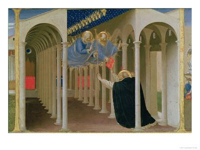 Apparition of Ss. Peter and Paul to St. Dominic, Coronation of the Virgin, c.1430-32-Fra Angelico-Giclee Print