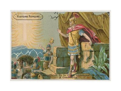 Apparition of the Cross Announcing Victory to Constantine at the Battle of Milvian Bridge, 312--Giclee Print