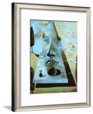 Apparition of the Face of Aphrodite-Salvador Dalí-Framed Art Print