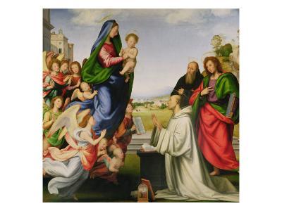 Apparition of the Virgin to St. Bernard-Fra Bartolommeo-Giclee Print