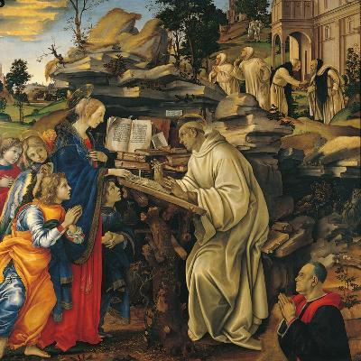Apparition of the Virgin To St Bernard-Filippino Lippi-Giclee Print