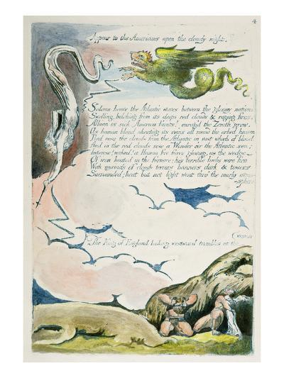 Appear to the Americans...', Plate 6 from 'America: a Prophecy', 1793-William Blake-Giclee Print