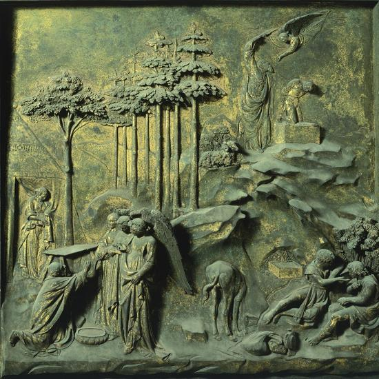 Appearance of Angels to Abraham and Sacrifice of Isaac-Lorenzo Ghiberti-Premium Giclee Print