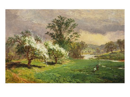 Apple Blossom Time, 1889-Jasper Francis Cropsey-Giclee Print