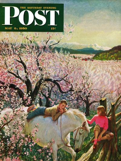"""Apple Blossom Time"" Saturday Evening Post Cover, May 6, 1950-John Clymer-Giclee Print"