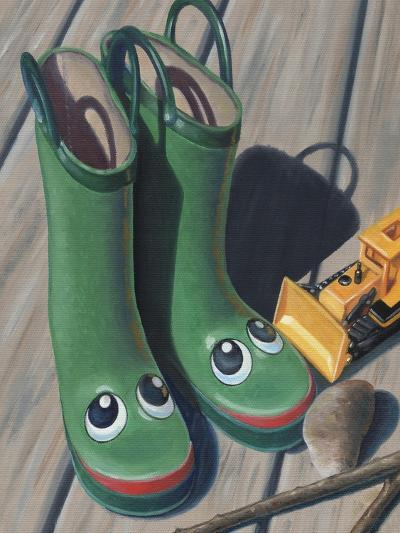Apple Frog Boots-Michele Meissner-Giclee Print