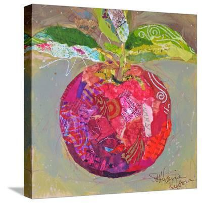 Apple On Branch--Stretched Canvas Print