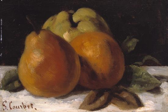 Apple, Pear and Orange, C.1871-72-Gustave Courbet-Giclee Print