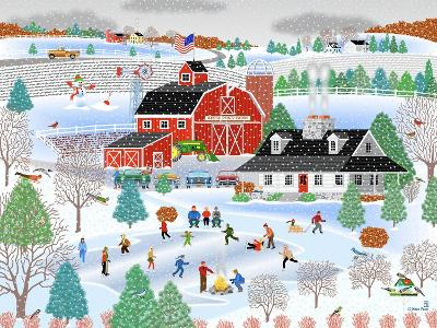Apple Pond Farm Winter-Mark Frost-Giclee Print