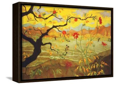 Apple Tree with Red Fruit, c.1902-Paul Ranson-Framed Canvas Print