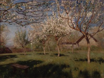 Apple Trees Blooming-Isaak Ilyich Levitan-Giclee Print