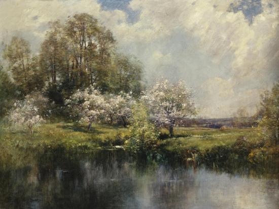 Apple Trees in Blossom-John Appleton Brown-Giclee Print