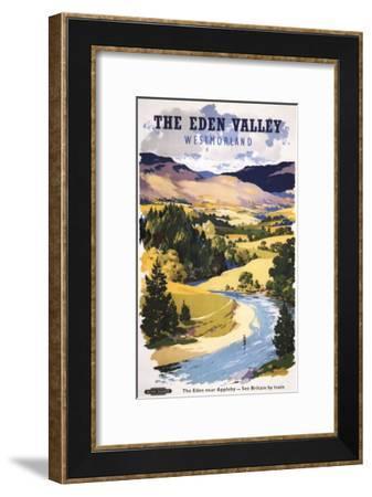 Appleby, England - Fisherman in the Eden Valley British Railways Poster-Lantern Press-Framed Art Print