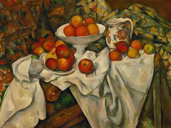 Apples and Oranges-Paul C?zanne-Premium Giclee Print