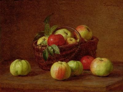 Apples in a Basket and on a Table, 1888-Henri Fantin-Latour-Giclee Print