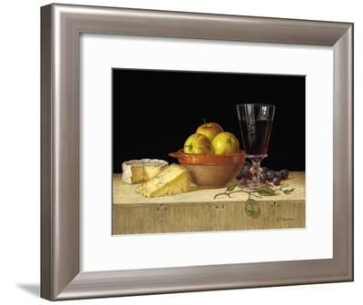 Apples in a Rustic Bowl with Cheeses-Roy Hodrien-Framed Giclee Print