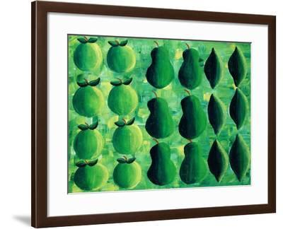 Apples, Pears and Limes, 2004-Julie Nicholls-Framed Giclee Print