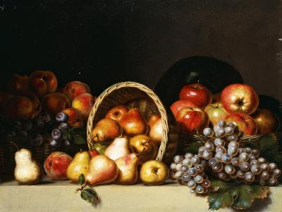 Apples, Pears, Plums and Grapes-Charles Bird King-Giclee Print