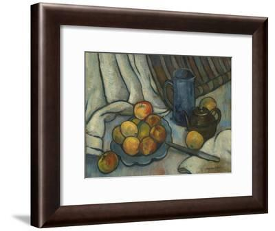 Apples, teapot and jug. Ca. 1919-Suzanne Valadon-Framed Giclee Print