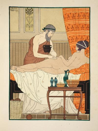 Application of White Egyptian Perfume to the Hip, Illustration from 'The Works of Hippocrates' 1934-Joseph Kuhn-Regnier-Giclee Print