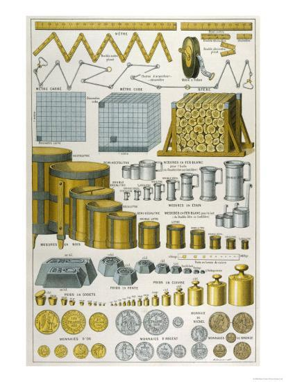 Applications of the Metric System to Dimensions Weight and Money--Giclee Print