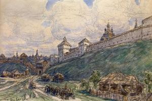 Serpukhov in the 17th Century by Appolinari Mikhaylovich Vasnetsov