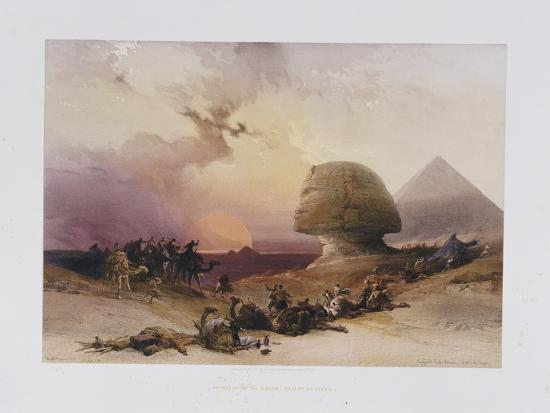 Approach of the Simoom. Desert of Gizeh, from 'Egypt and Nubia)-David Roberts-Giclee Print