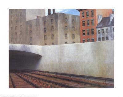 Approaching a City-Edward Hopper-Art Print