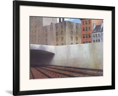 Approaching a City-Edward Hopper-Framed Art Print