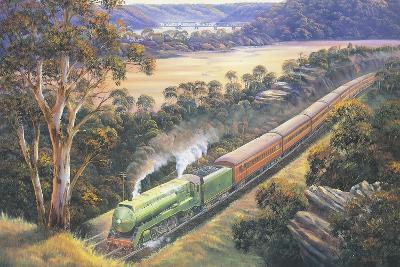 Approaching Cowan Bank-John Bradley-Giclee Print