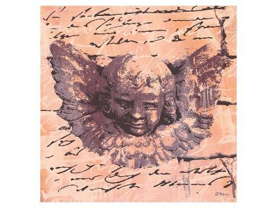 Apricot Letter of an Angel-Anna Flores-Art Print