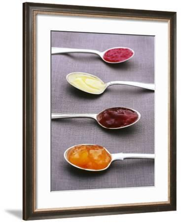 Apricot, Raspberry and Strawberry Jam and Lemon Curd-Maja Smend-Framed Photographic Print