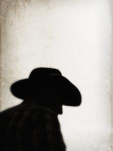 Silhouette of Cowboy by April Bauknight