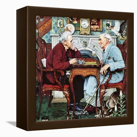 """""""April Fool, 1943"""", April 3,1943-Norman Rockwell-Framed Stretched Canvas Print"""