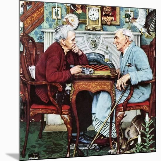 """""""April Fool, 1943"""", April 3,1943-Norman Rockwell-Mounted Premium Giclee Print"""