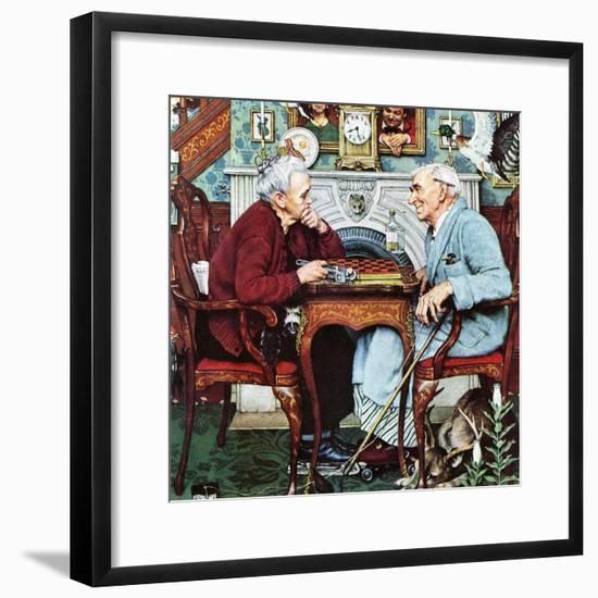 """April Fool, 1943"", April 3,1943-Norman Rockwell-Framed Giclee Print"