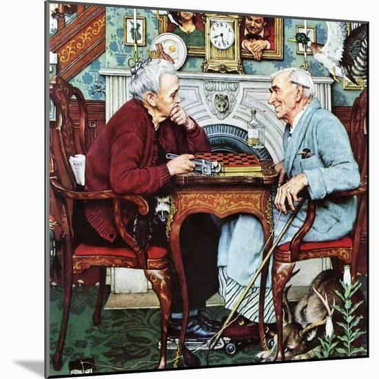"""April Fool, 1943"", April 3,1943-Norman Rockwell-Mounted Giclee Print"