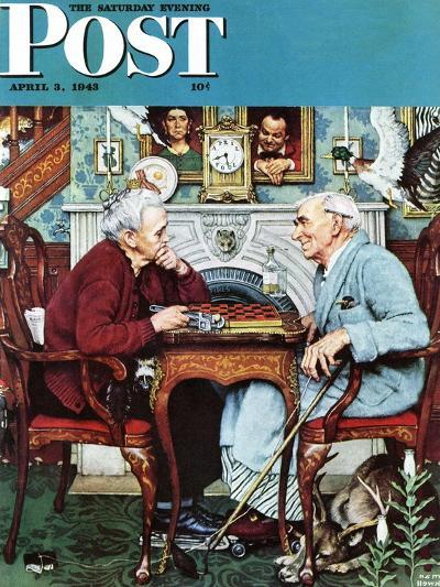 """""""April Fool, 1943"""" Saturday Evening Post Cover, April 3,1943-Norman Rockwell-Giclee Print"""