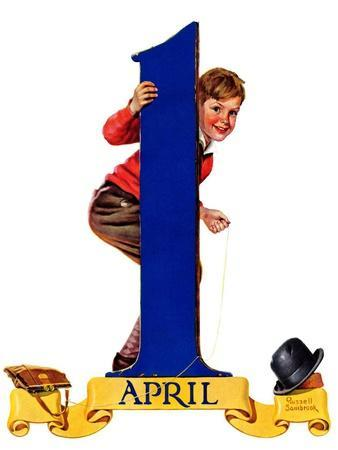"""""""April Fool's Day,""""April 2, 1938-Russell Sambrook-Giclee Print"""