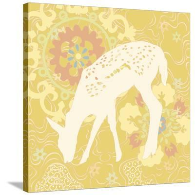 Aprils Flower Fawn--Stretched Canvas Print