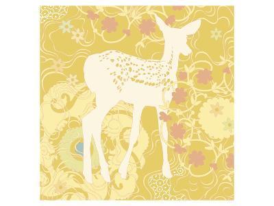 Aprils Twin Fawn--Art Print