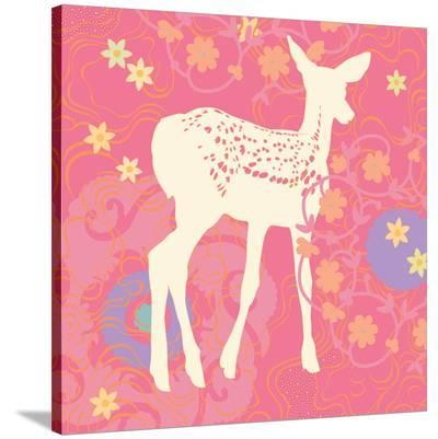 Aprils Twin Fawn--Stretched Canvas Print