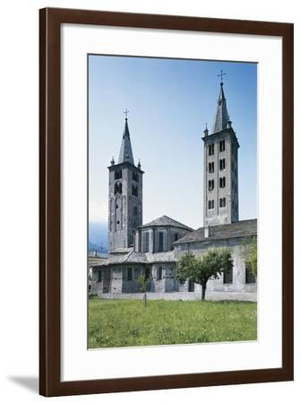 Apse and Bell Towers of the Cathedral of Aosta, Italy--Framed Giclee Print