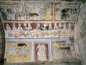 Apse Frescoes Depicting Scenes from the Passion of Christ and the Life of Saint Olalla, Including…