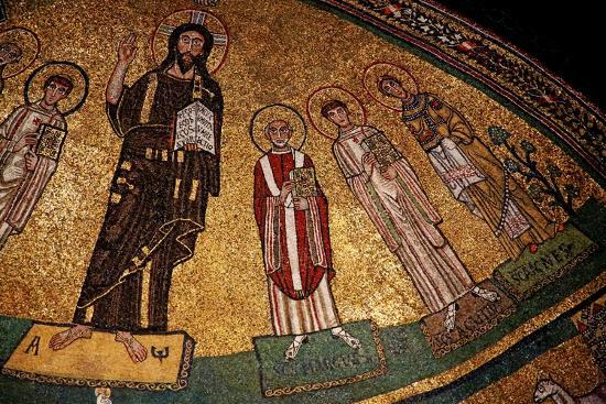 Apse Mosaic with Christ and Saints--Giclee Print
