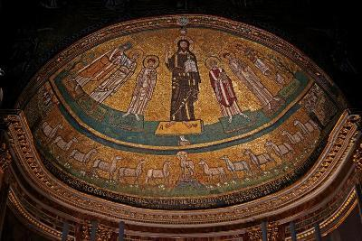 Apse Mosaic with Christ, Saints and Pope Gregory IV--Giclee Print