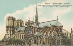 Apse of Notre Dame, Paris, France